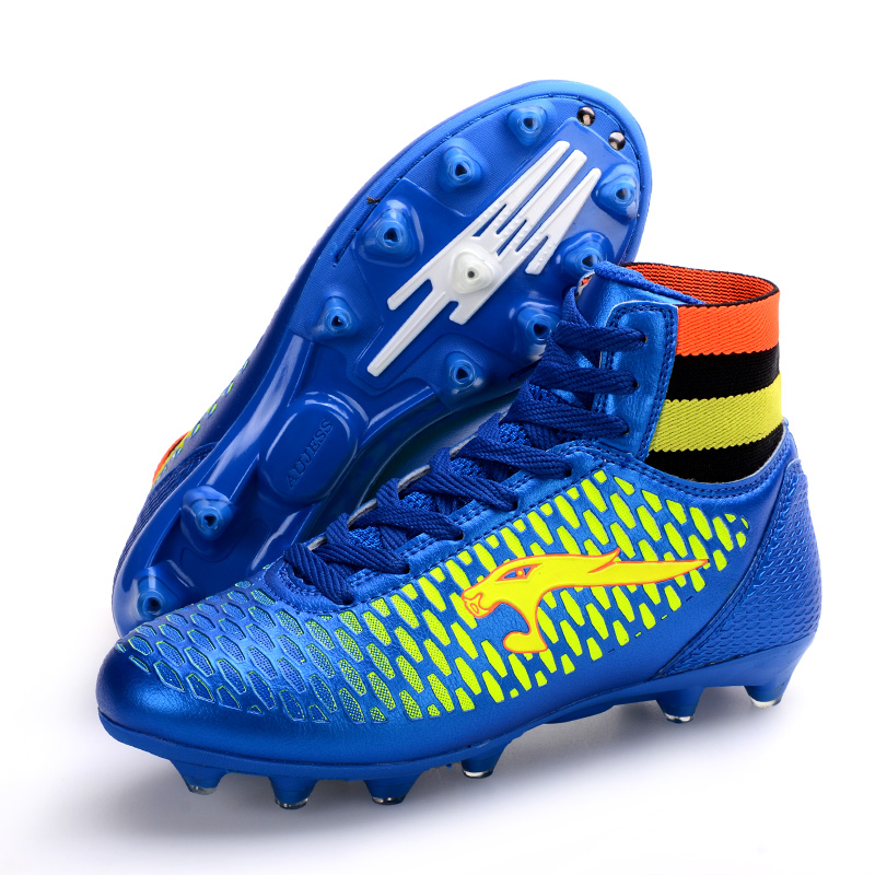 ce3982437 New Size 33 46 Men Soccer Shoes Kids Soccer Cleats FG High Ankle Football  Boots Boys Outdoor Training Sneakers zapatos de futb-in Soccer Shoes from  Sports ...