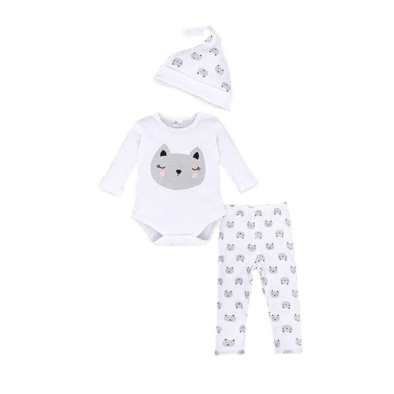 Brand Romper Set Fashion Cartoon Roupa De Bebe romper+Hat+Pant 3pcs Baby Boy Clothing Set Superman Batman Newborn Baby Clothes