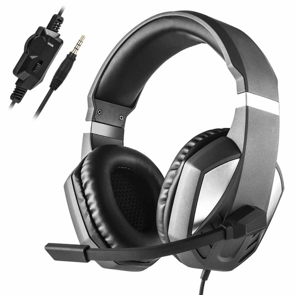 大ヘッドフォンヘッドフォンでマイクヘッドホンゲームヘッドセットステレオ二国間でヘッドセット PC アダプタケーブル PS4 Pc
