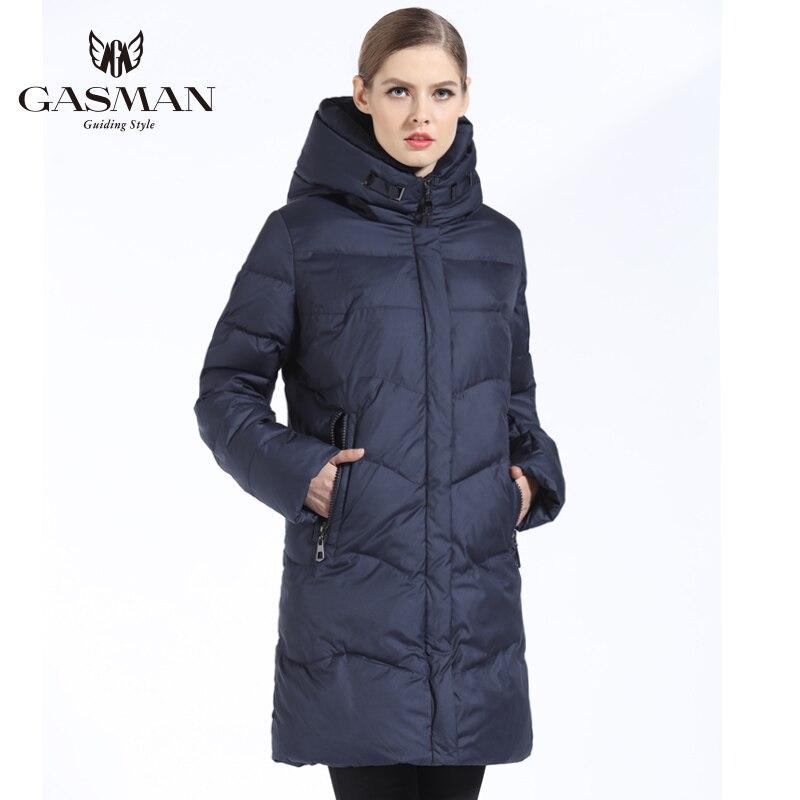 GASMAN 2019 Femmes Veste D'hiver Vers Le Bas Long Femelle manteau d'hiver épais Pour Femmes À Capuchon Vers Le Bas Parka Chaud Vêtements grande taille 7XL 6XL - 3