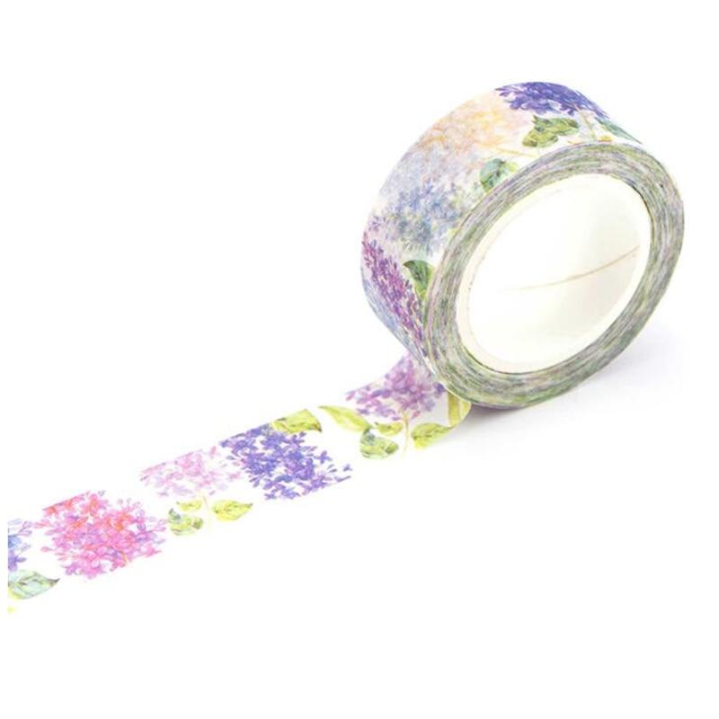 1.5cm Wide Luxuriant Flowers Washi Tape Adhesive Tape DIY Scrapbooking Sticker Label Masking Tape Clove