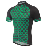 Green Men Top Breathable MTB Mountain Bike Bicycle Cycling Running Short Sleeve Jersey Quick Dry Breathable Outdoor Sportswear