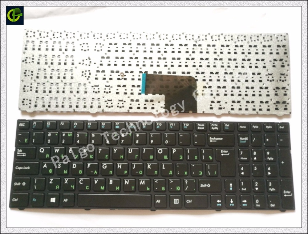 Russian RU Keyboard for DNS Pegatron C15 C15A C15E C17A C15B 0KN0-CN4RU12 MP-13A83SU-5283 0803498 KLAVYE PG-C1 black with  frame new ru for lenovo u330p u330 russian laptop keyboard with case palmrest touchpad black