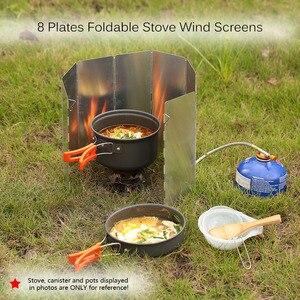Image 5 - Tomshoo屋外のキャンプストーブ10プレート折りたたみ炊飯器ガスストーブウインドシールド画面アルミフロント
