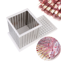 ITOP Stainless Steel/ABS Plastic 64 Skewers Maker Quick Wear Kebab Maker Box Meat Kabob brochette BBQ Barbecue Tools