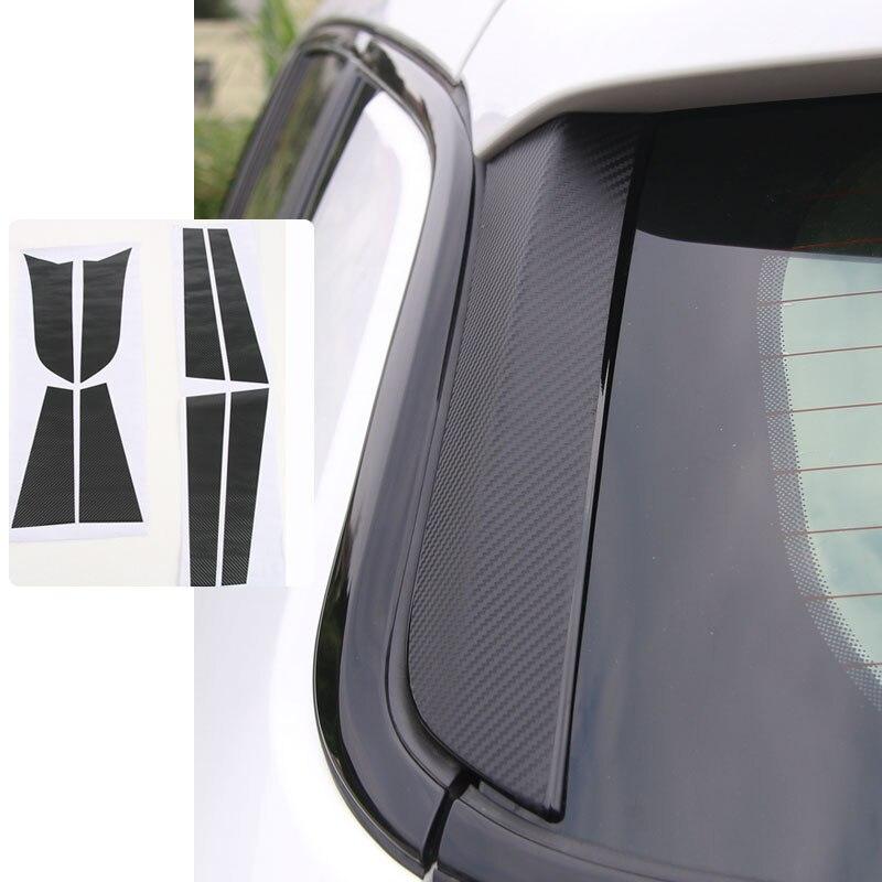 Окна автомобиля стикер для Jeep Компасы 2017 углеродное волокно узор