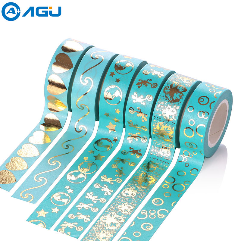 Christmas Foil Gold Washi Tape with Simple Design for DIY Decoration