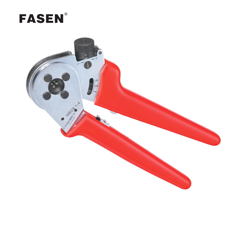 HSC8 1-4 W1 W2 W3 MINI-TYPE SELF-ADJUSTABLE CRIMPING PLIER terminals crimping tools 1pcs hsc8 16 4 11 5 awg suyep mini type self adjustable crimping plier application for tubular bare terminals and pre insulated