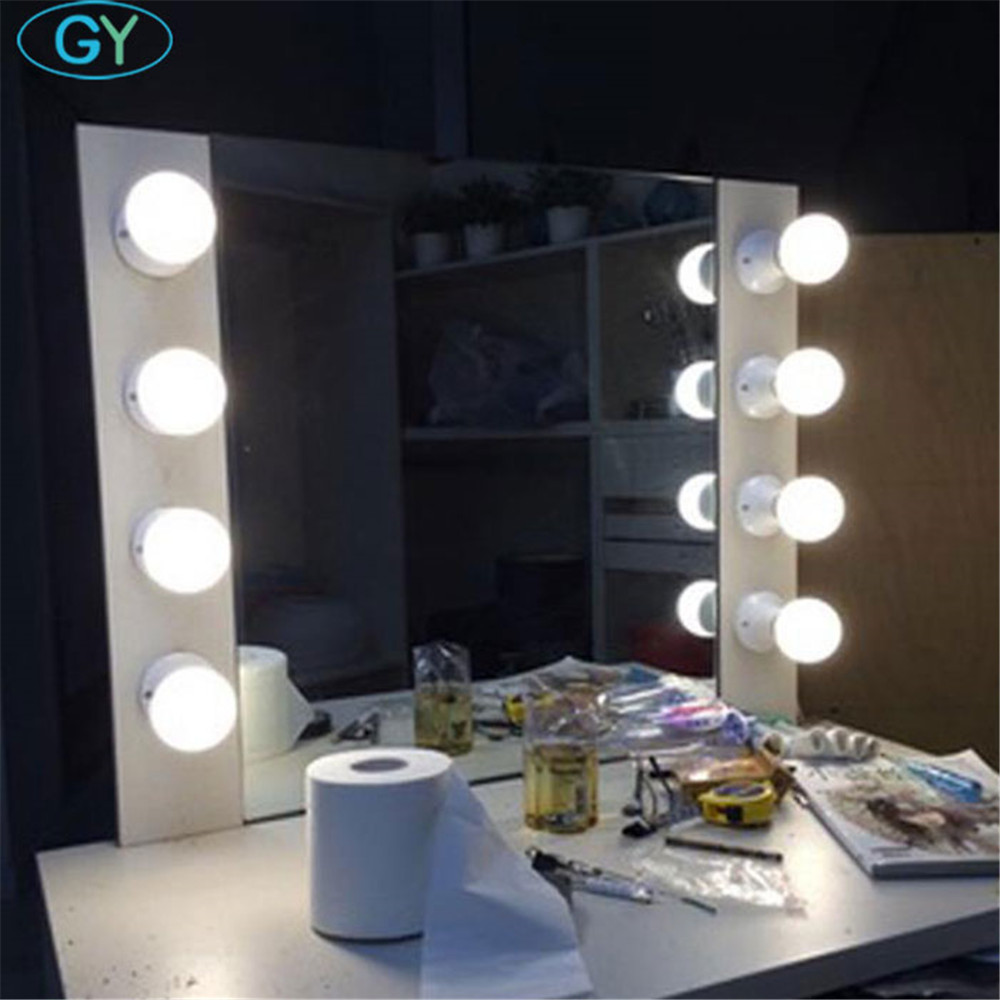 Us 9 99 Hollywood Style E27 Vanity Lights Wall Mounted Plug In Bathroom Mirror Front Lamp Led Studio Dressing Room Strip Lighting