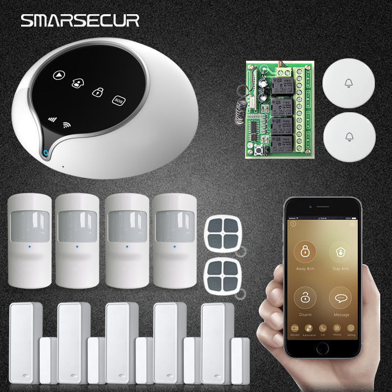 2017 S1 GPRS GSM WIFI Home Burglar Security Alarm Systems PIR Motion detector Alarm Panel APP Control Sensor Alarm yobangsecurity touch keypad wifi gsm gprs home security voice burglar alarm ip camera smoke detector door pir motion sensor