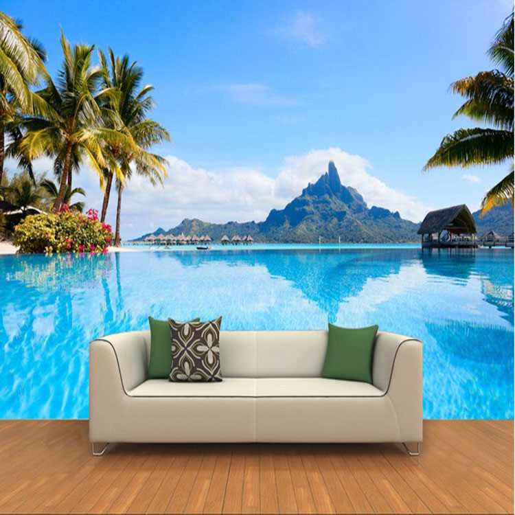 Free Shipping custom 3D stereo sea scenery wall painting wallpaper living room sofa TV background mural ноутбук hp 15 aс113ur