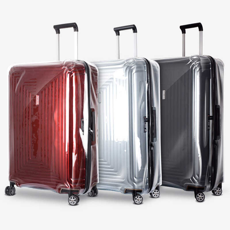 813221a6d ... PVC Luggage Covers for DELSEY Suitcase Transparent Protector Cover with  Zipper Delsey Clear Luggage Protective Cover