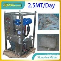 מכונת להכנת קרח slurry באיכות 2.5MT ליום לברכת להחליף להכנת קרח פלייק