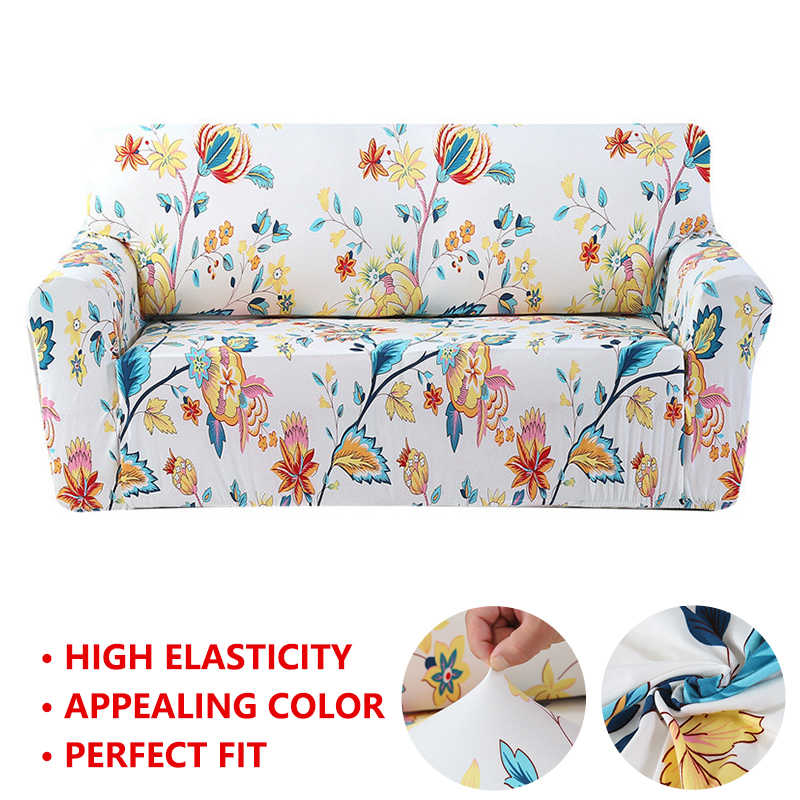 Sofa Cover Floral Printing Elastic Stretch Slipcovers Sofa Tight