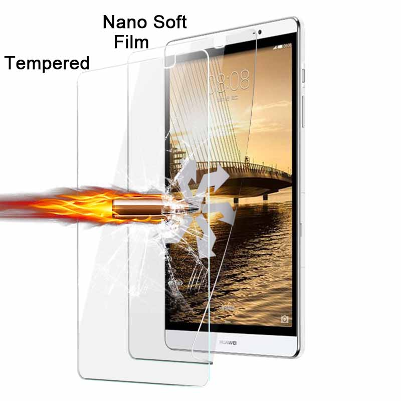 On Sale1pcs Explosion-proof Nano soft film For Huawei MediaPad M2 8.0 TAB Anti-shatter screen protector films in stock