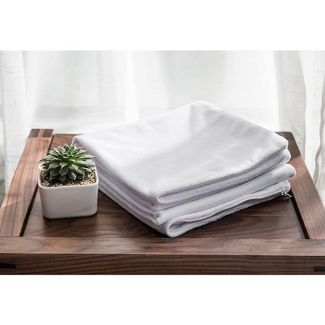 DFH 50X70CM Terry Cloth Zippered Pillow Protector Waterproof Pillow Cover Hypoallergenic Breathable Pillowcasse