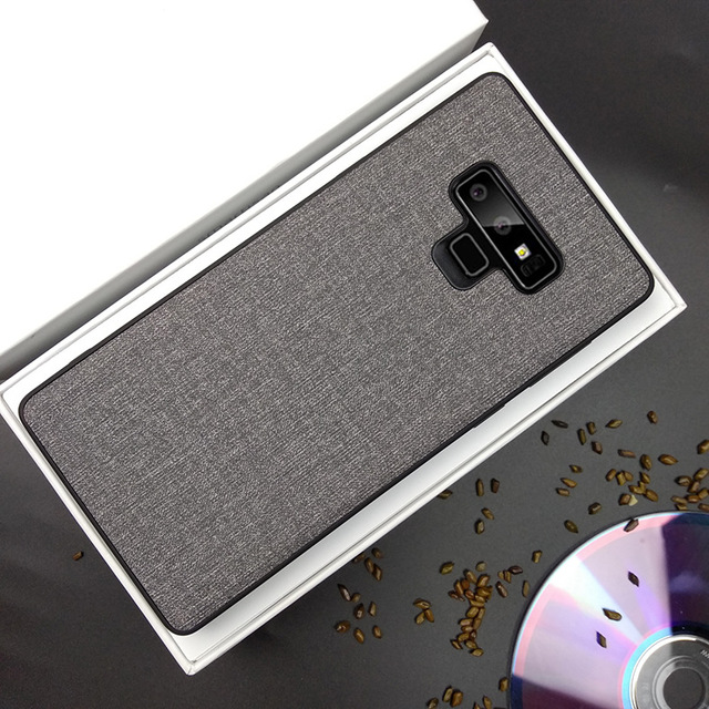 meet 2d258 b0e14 US $4.41 6% OFF For Samsung Galaxy Note 9 Case Luxury Skin Coque Silicone  edge fabric back cover protective cases for samsung note 9 phone shell-in  ...