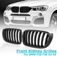 1Pair Car Kidney Grills for BMW X3 F25 F26 2014 2015 2016 2017 for Matt Black Front Kidney Grill Grilles Racing Styling
