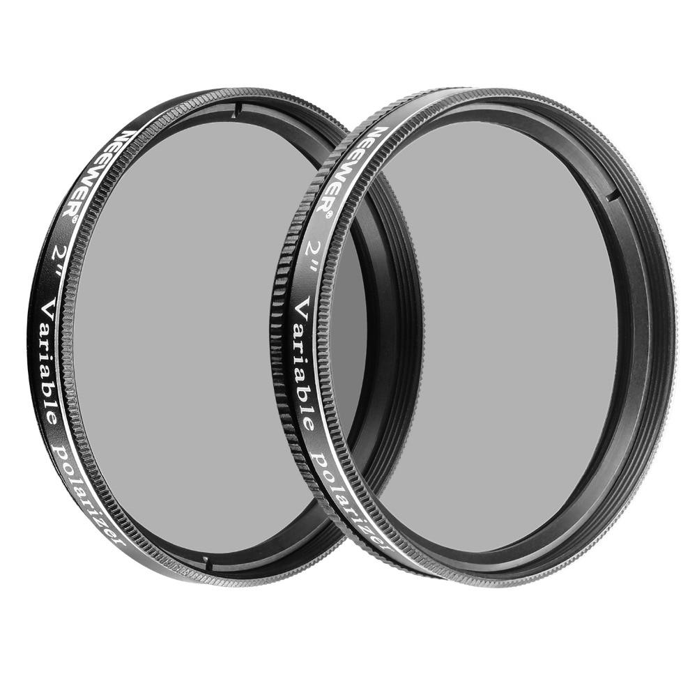 Neewer 2 pouces Variable Polarisant Filtres En Verre Optique pour Télescopes + Oculaires à Dim la Vue/Augmenter le Contraste/réduire L'éblouissement