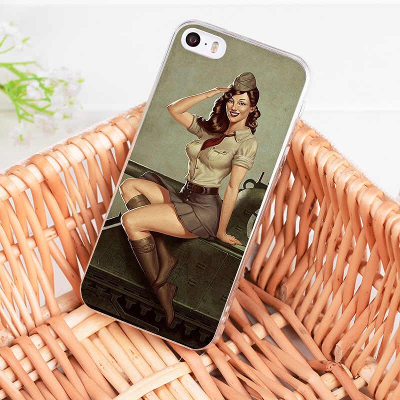 Yinuoda PinUp chicas Pin Up chica caso de la cubierta del teléfono para iPhone 8 7 6 6S Plus X 5 5S SE XR XS XSMAX 11 11pro 11promax