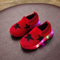 Kids Shoes Four Seasons New Led Sneakers Light Up Shoes Breathable Soft Bottom Melissa Tenis Infantil Children's Shoes Kids