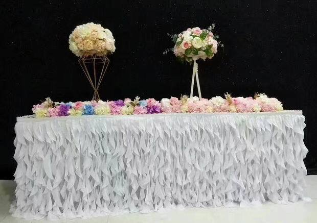 2018  table skirt runner cloth wedding table skirts  table covers/ hotel home banquet party table decoration