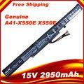 15 В 2950 A41-X550E мАч Оригинальные Новые Батареи Ноутбука для ASUS X450 X450E X450J X450JF X751L A450J A450JF A450E F450E 44WH 4 КЛЕТОК