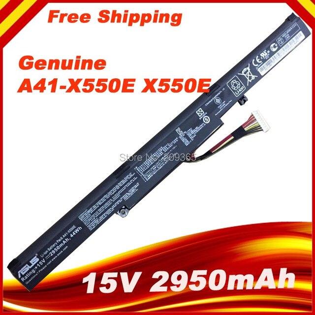 15V 2950mAh Original New Laptop Battery A41-X550E for ASUS X450 X450E X450J X450JF X751L A450J A450JF A450E F450E 44WH 4CELLS