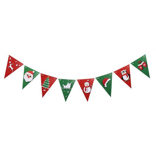 8pcs merry christmas banner winter christmas snowman house garden flag holiday yard banner christmas decoration
