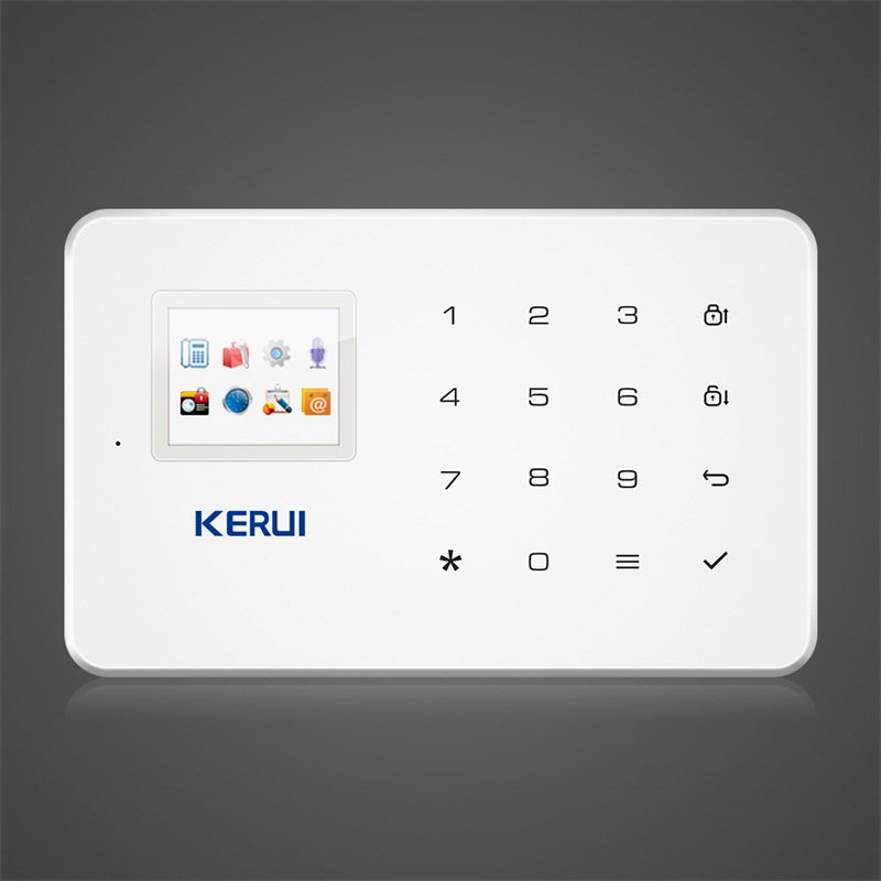 Kerui G18 GSM Home security Alarm System Built-in Antenna Alarm Anroid IOS App Remote Control Low-voltage Remind Alarm fuers g90b home alarm systems touch app gsm alarm system 2g built in antenna wired security alarm kit for apartment house