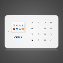 Kerui G18 GSM Home security Alarm System Built-in Antenna Alarm Anroid IOS App Remote Control Low-voltage Remind Alarm(China)