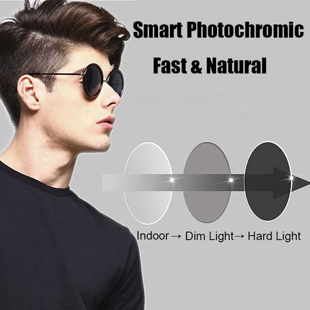 Coating Photochromic Lenses 1.61 High Index Single Vision Aspheric Prescription Lens Anti-Radiation & UV Color Change Quickly