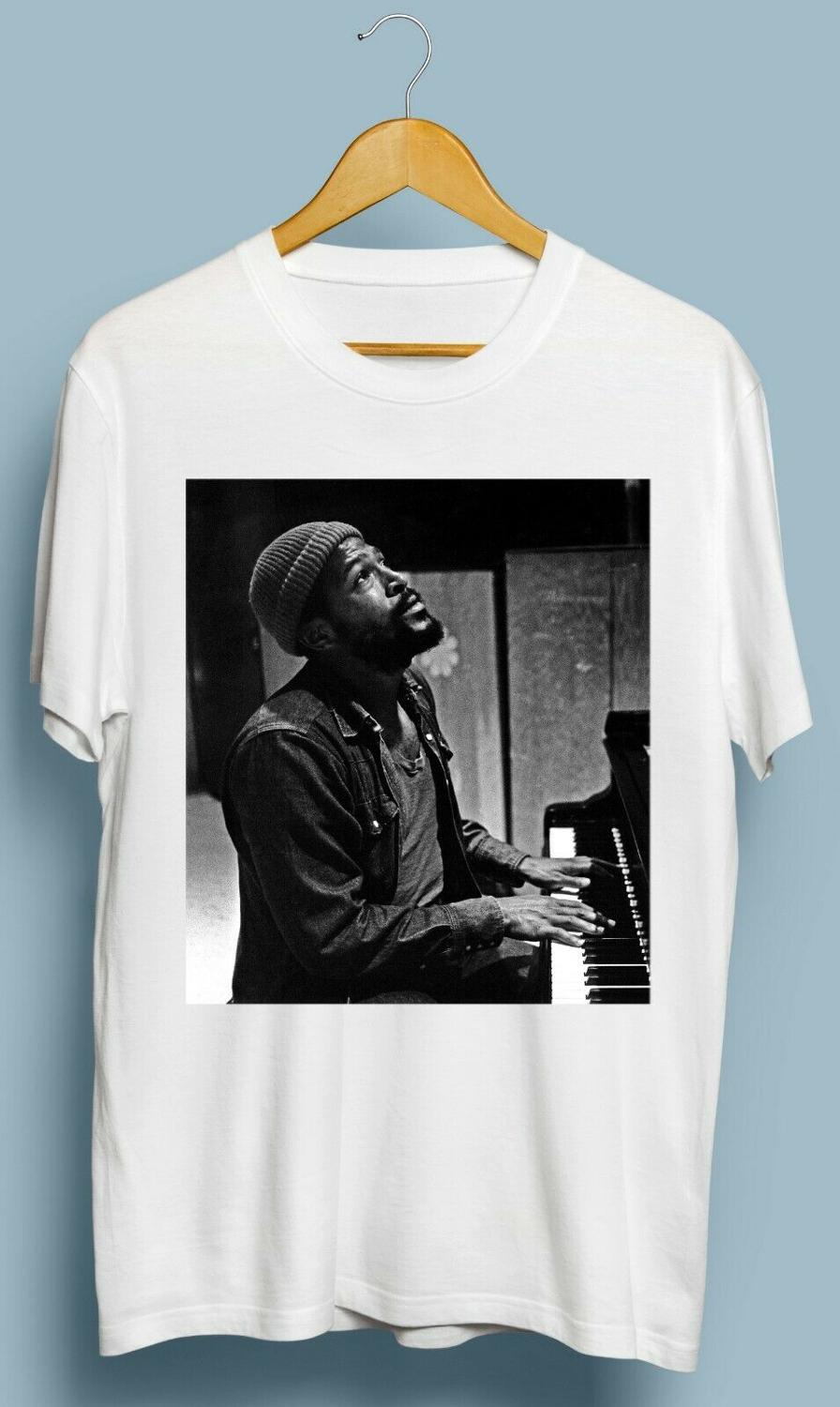 Vintage Marvin Gaye Piano T Shirt 2019 Cotton Men Fashion Summer Style Fitness Brand Movie T Shirt image