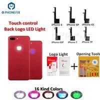 Aletler'ten El Aleti Setleri'de PHONEFIX 16 çeşit renkler arka Logo LED hafif parlamalı lamba esnek kablo aydınlatma LED iPhone 6 6P 6S için 6SP 7 7P Flex kablo
