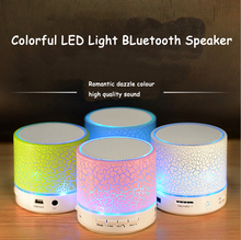 cheap mini portable bluetooth speaker with colorful LED light