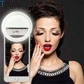 Tycipy Selfie Ring Licht Wiederaufladbare Clip auf 36 LED 3 Stufe Einstellbar Telefon Kamera Licht Für iPhone X 8 Plus Android Tablet|Blitze|Verbraucherelektronik -