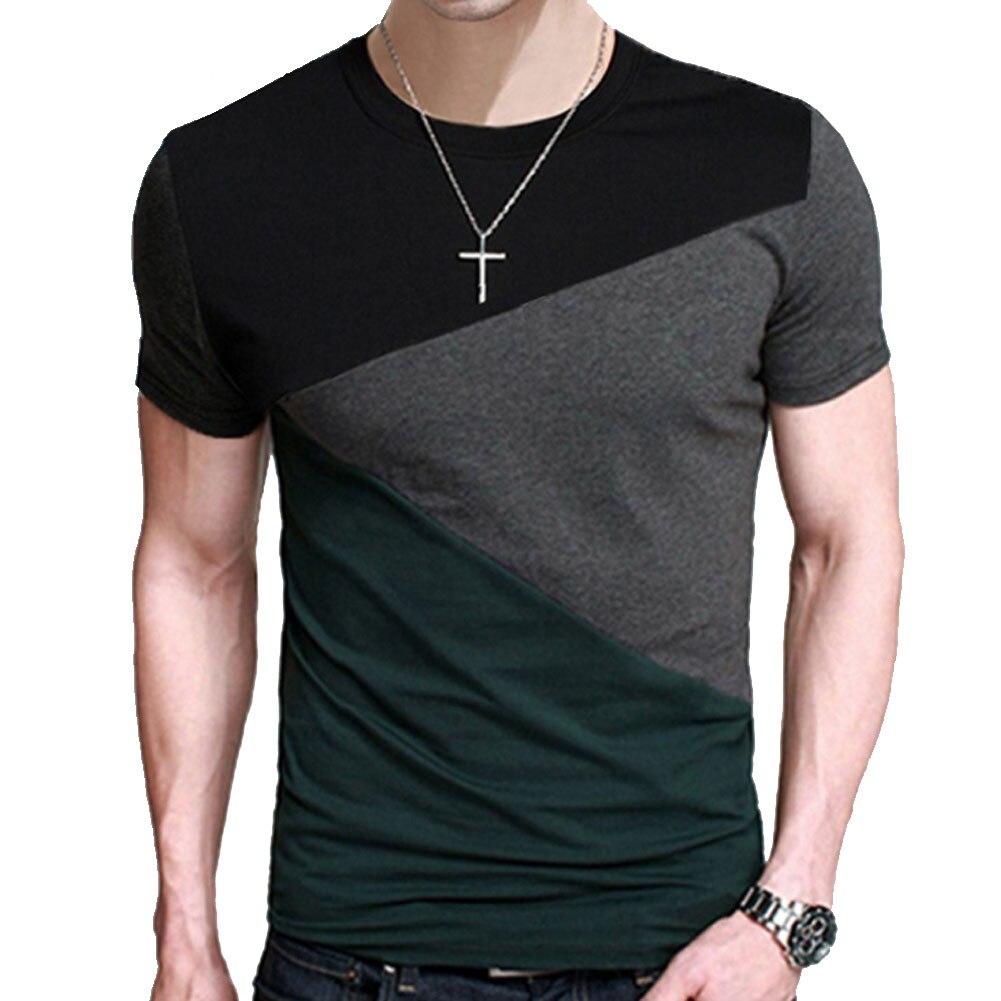 Marke 2018 Männlichen Kurzarm T-shirt O-ansatz Männer T-Shirt hip-hop Einfache Spleißen T Tops Shirt Männlichen T Shirts XXXL 5363