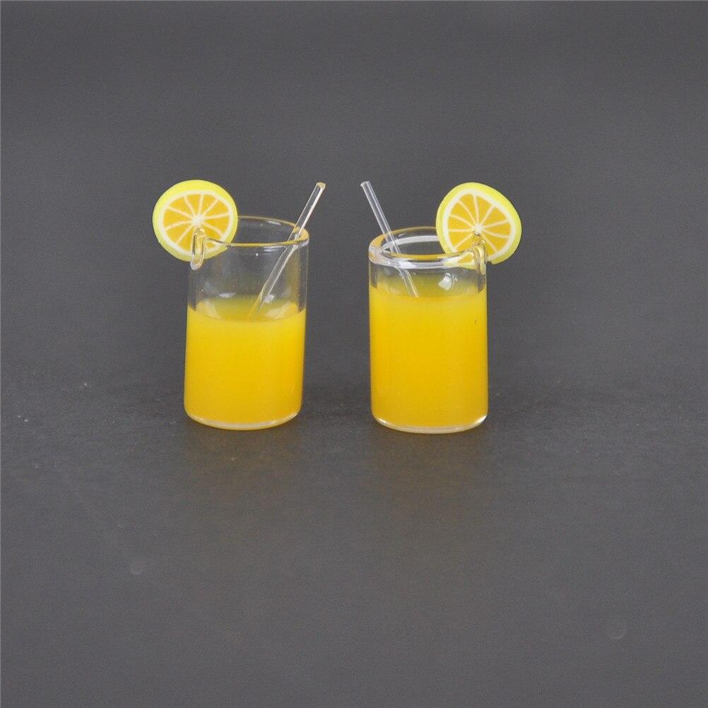 1:12 Resin Dollhouse Mini Lemon Milk Tea Water Cup Miniature Dollhouse Accessories Cups Toy Mini Decoration Gifts