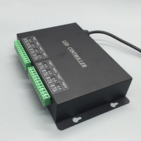 Rgb Full Color Programmable Controller 8 Ports Control 8192 Pixels Support DMX512 WS2811 Etc Strip Controller