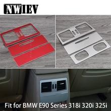 NWIEV Автомобиль Стайлинг отделка наклейки для BMW 3 серии BMW E90 E91 E92 E93 задняя воздуха на выходе Frame Алюминий сплав охватывает аксессуары