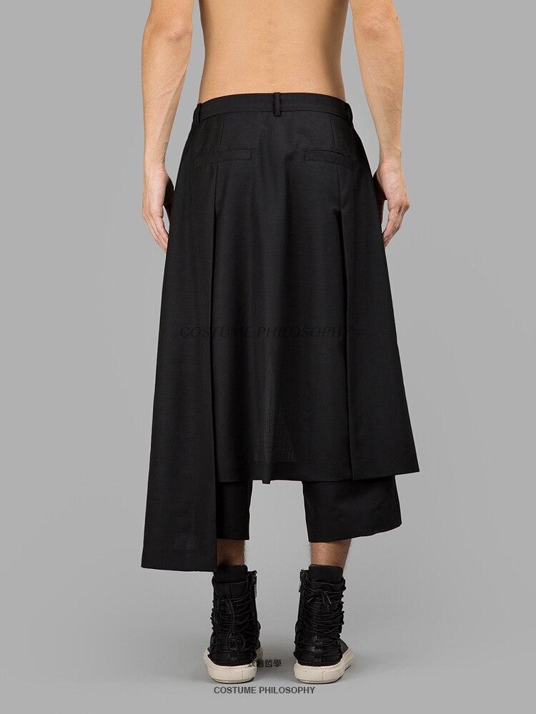 Suelta Irregular Pierna 27 Personalidad Moda 44 Hombres Tamaño Trajes Negro Pantalones Ancha La De Cantante Nuevos Show Calle 2019 Caminar Más Falda SCnCvwfqa