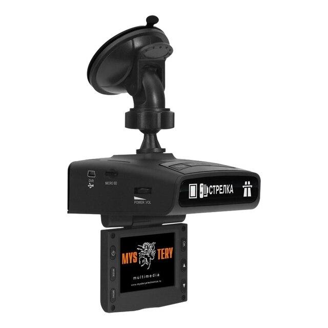 """Видеорегистратор-радар MYSTERY MRD-830HDVS(2""""дисплей, максимальное разрешение камеры: видео 1920x1080, Обнаружение сигналов радаров в диапазонах X/UltraX, K/UltraK, Ka, Обнаружение радаров Стрелка-СТ/М. Отключени"""