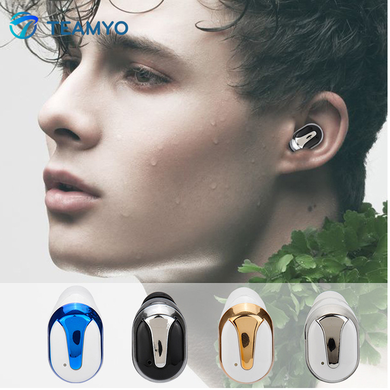 Teamyo Wireless earbuds earphone Bluetooth earbuds With Mic sport headphone Sport small headset For mobile phone Earplugs wireless bluetooth headset v4 0 sports earphone gym headphone with mic earbuds universal for apple 7 plus xiaomi mobile phone