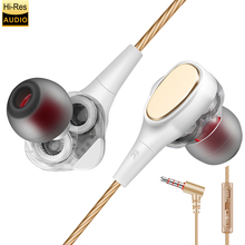 AIPAL Professional In-Ear Earphone Metal Heavy Bass Sound Quality Music ired Earphone Dual Drive High-End Brand Headset