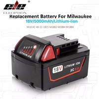 High Capacity 5000mAh 18V Li Ion Replacement Power Tool Battery For Milwaukee M18 XC 48 11