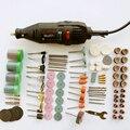 Бесплатная доставка Электрический Dremel мясорубку Инструменты + 161 шт. комплект, мини умереть шлифовальные инструменты, цена по прейскуранту завода