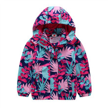 2018 Spring Autumn Waterproof Windproof Outerwear Coats Baby Girls Jackets With Warm Polar Fleece Lining For 3-12T