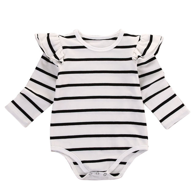 76fbc1da90a8 Cotton Newborn Infant Baby Boy Girls Clothing Tops Bodysuit Long Sleeve  Cotton Striped Jumpsuit Clothes Outfits