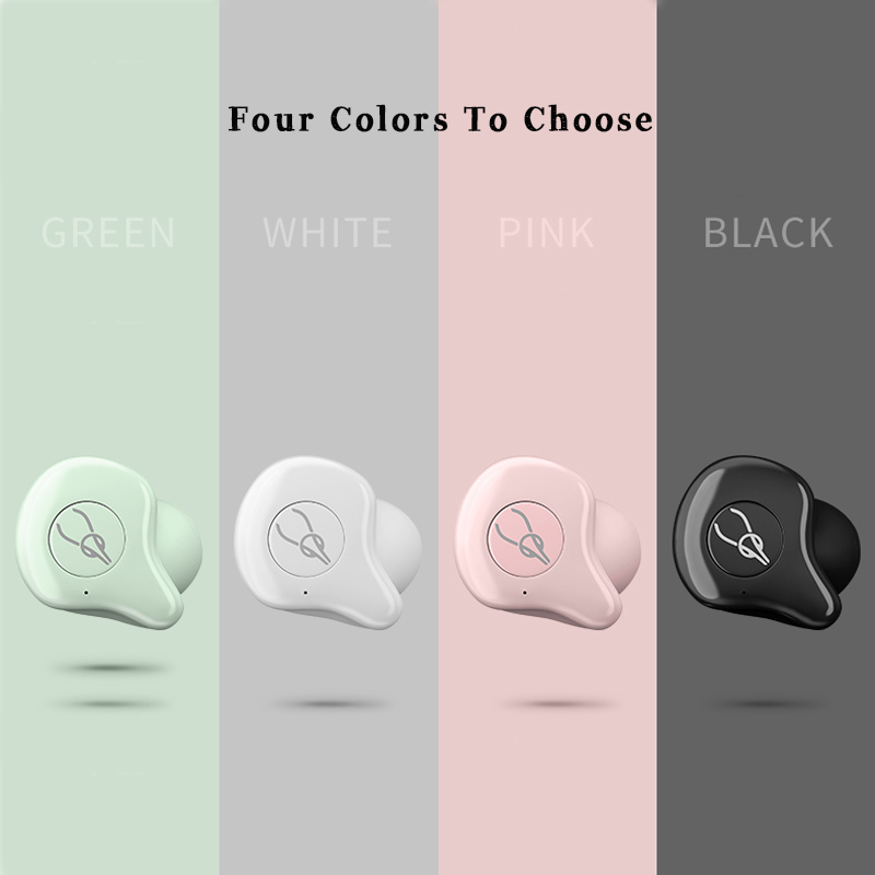 Mise à niveau Bluetooth 5.0 rose étanche sport sans fil Bluetooth casque - 5