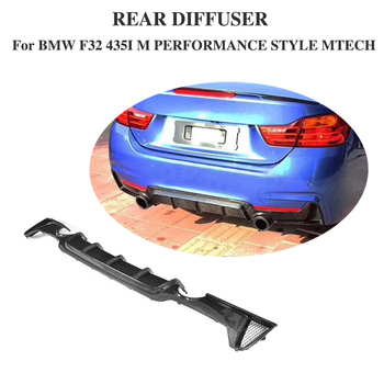 Diffuser Spoiler for BMW F32 F33 M Sport Non Standard Single exhaust one outlet Carbon Fiber Rear Bumper Lip Black FRP image